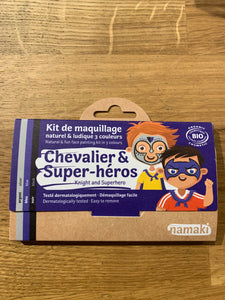 Organic knight & superhero 3 color kit