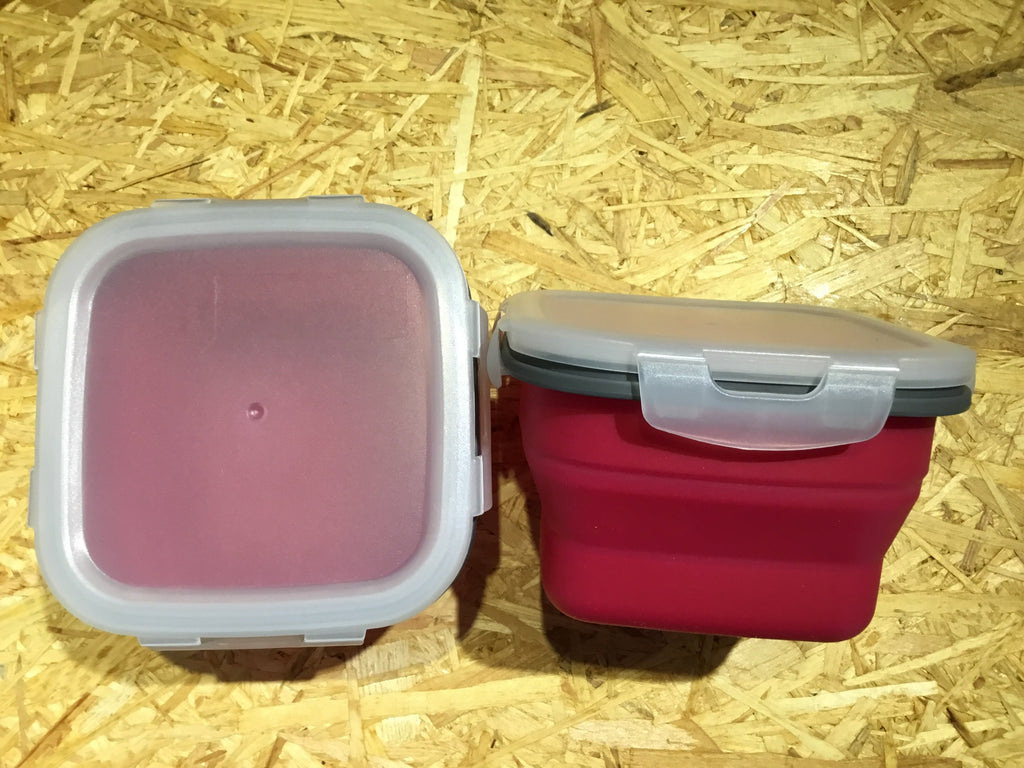 Foldable Silicone Snack Box - Square