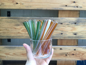 Short Glass Straw (12cm) - All colours 玻璃飲管(多種顏色)