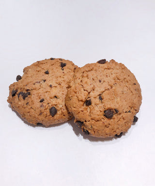 Organic Vegan cookies from France - hazelnuts and whole almonds, chocolate chips and oatmeal