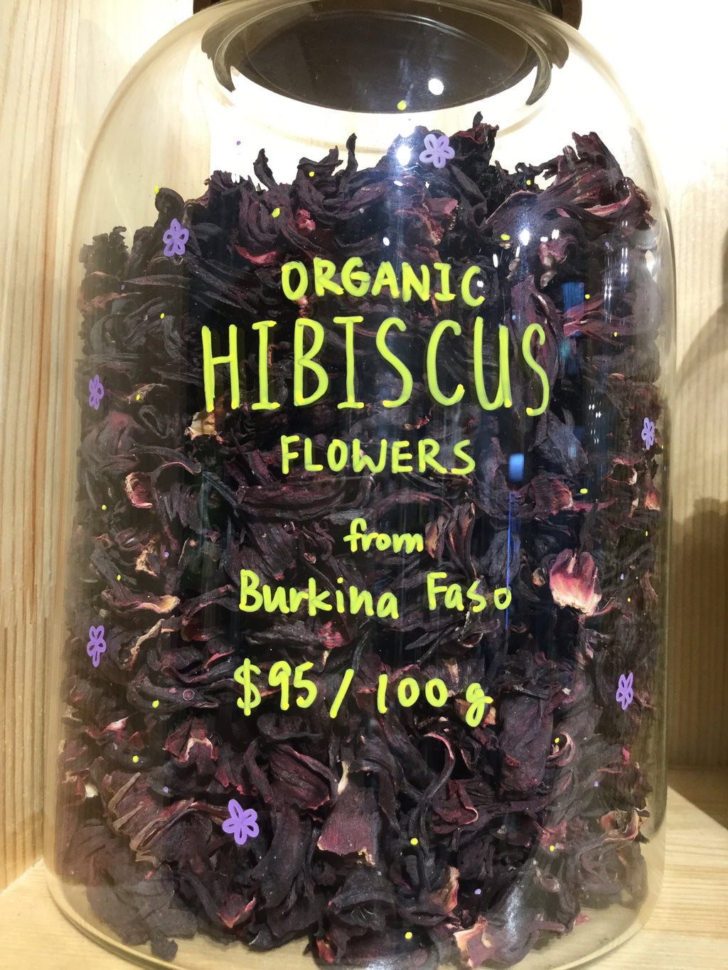 Organic Hibiscus (Cut Flowers - 5-10mm) from Burkina Faso