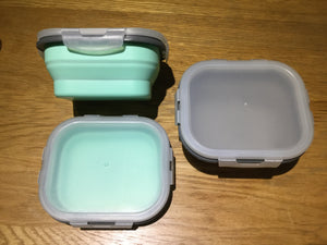 Foldable Silicone Snack Box - Small rectangular