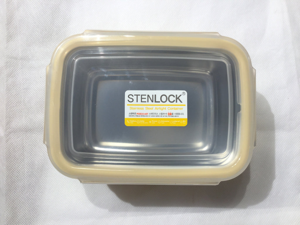 StenLOCK Stainless Steel Double-Wall Container - Rectangular 540ml