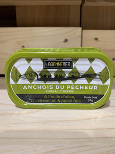 Anchovies with Organic Olive Oil, Lemon, Garlic & Parsley - Fisherman's style - 70g