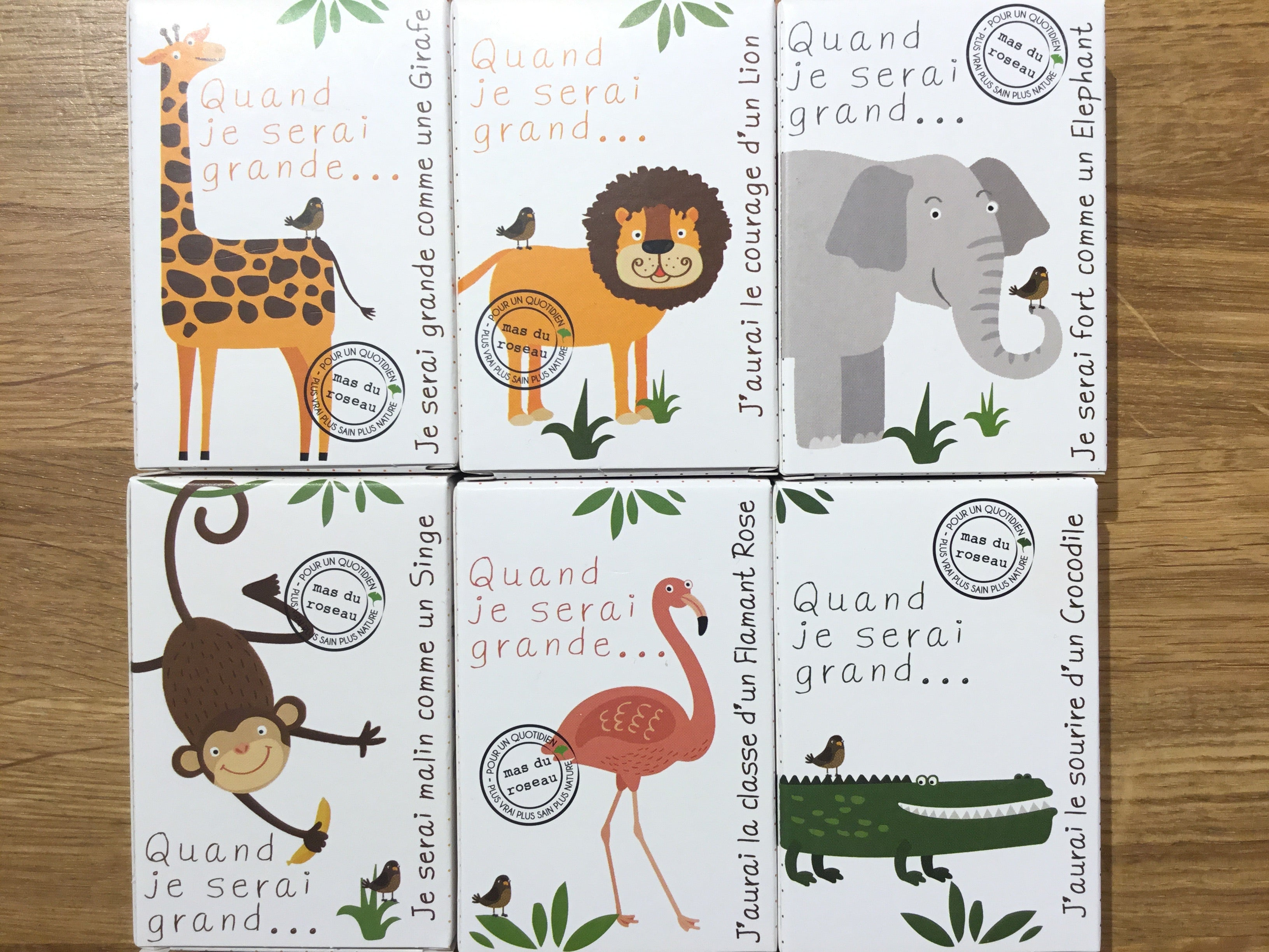 Zoo Soaps For Kids - made of Rice Powder