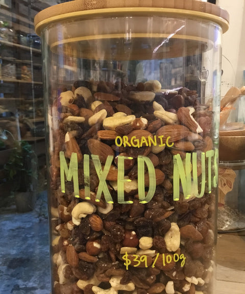 Organic Mixed Nuts - Brazil nut, cashew nut, shelled almond, hazelnut, white almond 有機堅果雜錦 - 巴西堅果,腰果,去殼杏仁,榛子,白杏仁