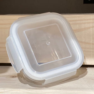 Glass square container