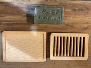Wooden Soap Dish with Tray
