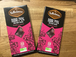 Belledonne - 74% dark chocolate w/ black currant purée