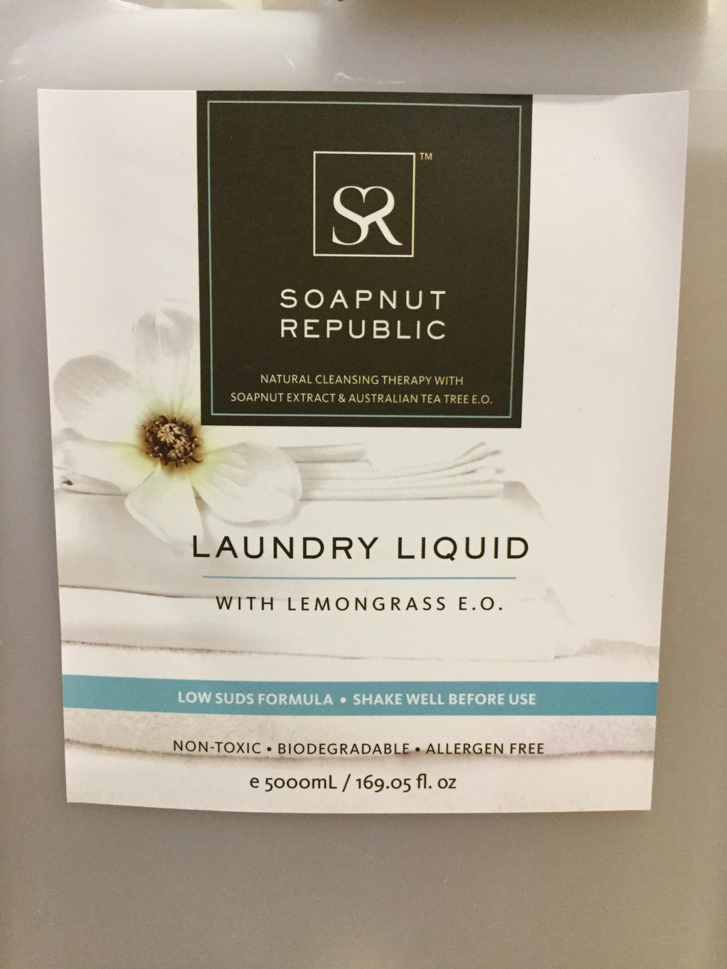 Soapnut Republic (Bulk) Laundry Liquid with Lemongrass E.O.