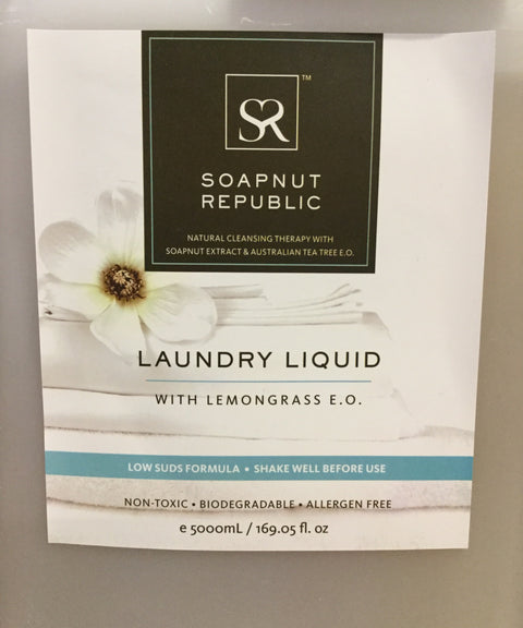 Soapnut Republic Laundry Liquid with Lemongrass E.O. (Bulk)