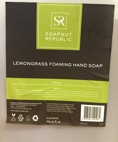 Soapnut Republic Lemongrass Foaming Hand Soap (Bulk)
