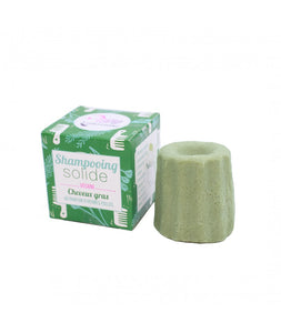 Lamazuna - SOLID SHAMPOO - OILY HAIR - WILD GRASS - Essential oil free - 55g
