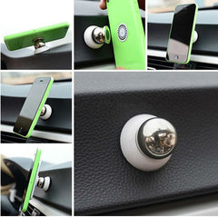 360 Degree Universal Magnetic Car Phone Holder, - cell phone accessories