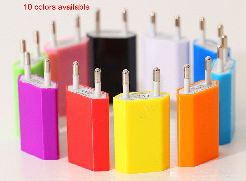 Universal EU Plug Adapter Mini AC Power USB Wall Charger, - cell phone accessories