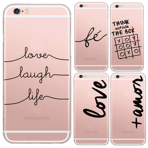 Portuguese Words Design Transparent Soft Silicon Phone Case, - cell phone accessories