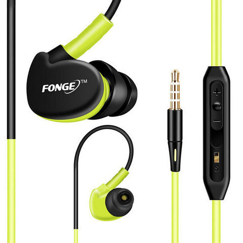 Earphones With Mic Running Stereo Bass, - cell phone accessories
