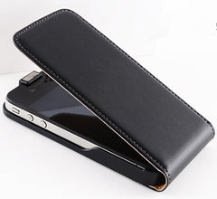 Genuine Leather Case Vertical Magnetic Flip Cover, - cell phone accessories