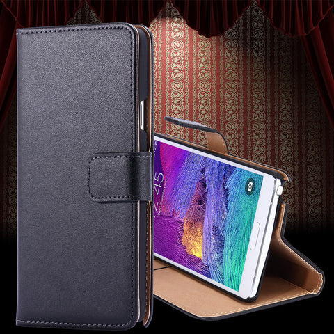 Real Genuine Leather Case for Samsung Galaxy S5 - cell phone accessories