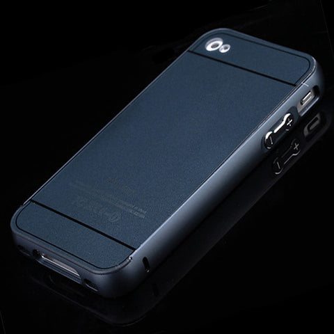 Metal Aluminum Case + Acrylic Full Protective Front Back Cover, - cell phone accessories
