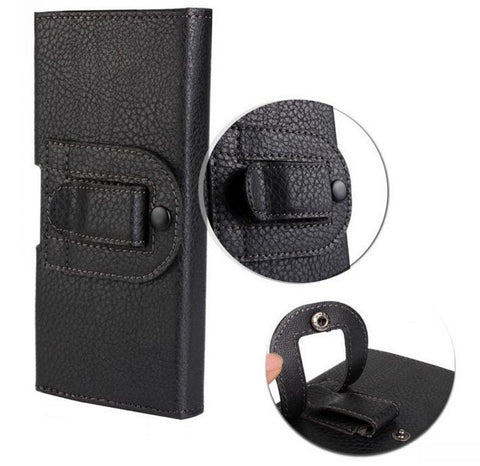Smooth/Lichee Pattern Leather Pouch Belt Clip Bag, - cell phone accessories