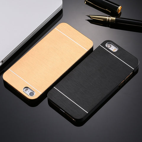 Luxury Hard Aluminum Metal Soft TPU Frame Case, - cell phone accessories