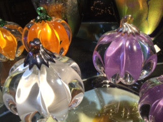 Handblown Glass Pumpkins