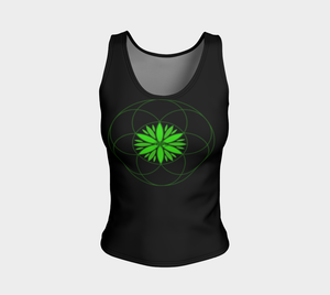 Sacred Canna Fitted Tank Fitted Tank Top (Regular) - Altered 3go