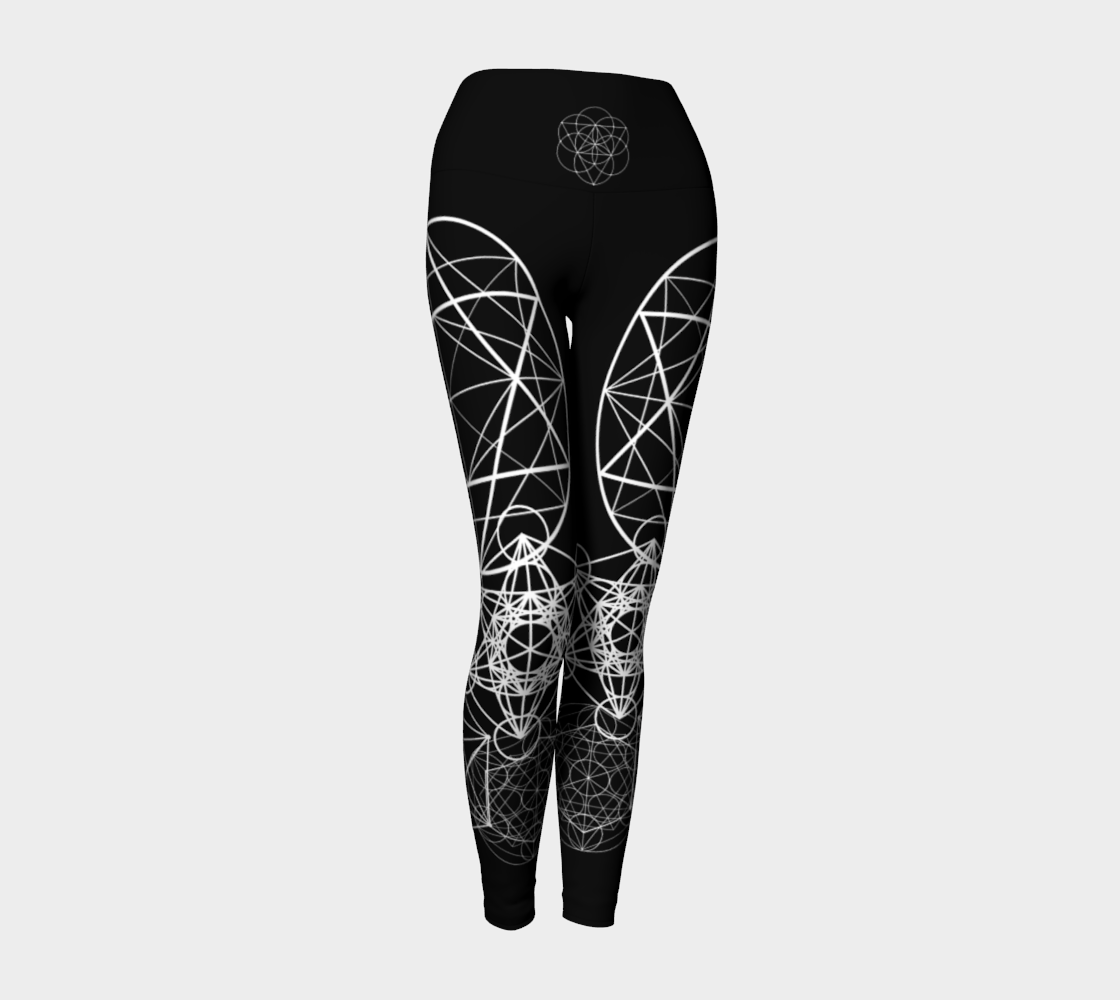 Black Geometry Leggings Yoga Leggings - Altered 3go