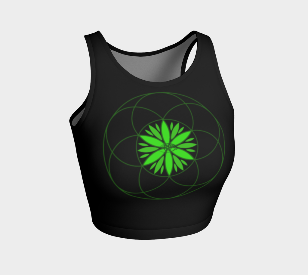 Sacred Canna Crop Top Athletic Crop Top - Altered 3go
