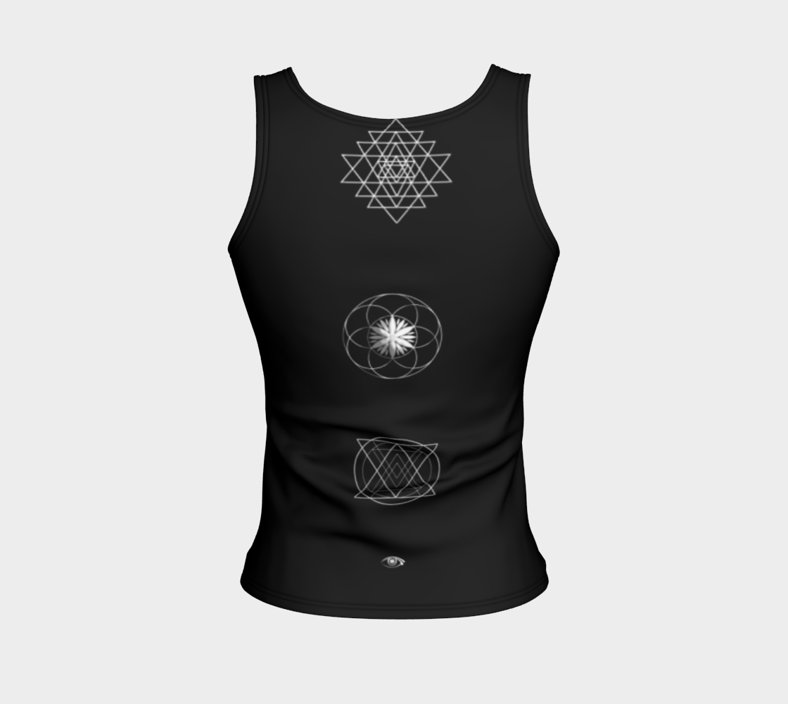 Altered 3go Sacred Music Fitted Tank Fitted Tank Top (Regular) - Altered 3go
