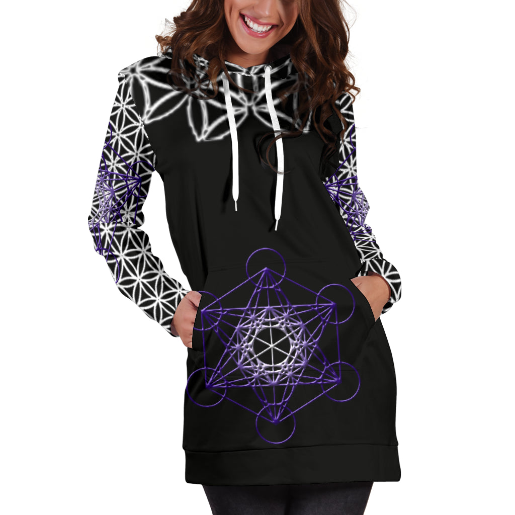 Flower of Life Hoodie Dress  - Altered 3go