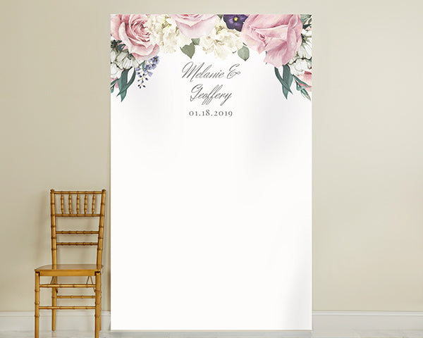 Personalized Wedding Photo Booth Backdrop