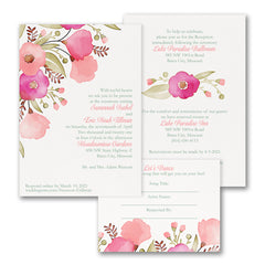 floral wedding invations carlson craft