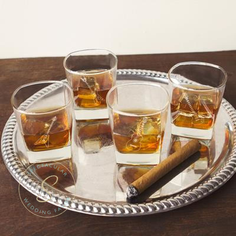 10.5 Oz. Guitar Rocks Glasses (Set Of 4)