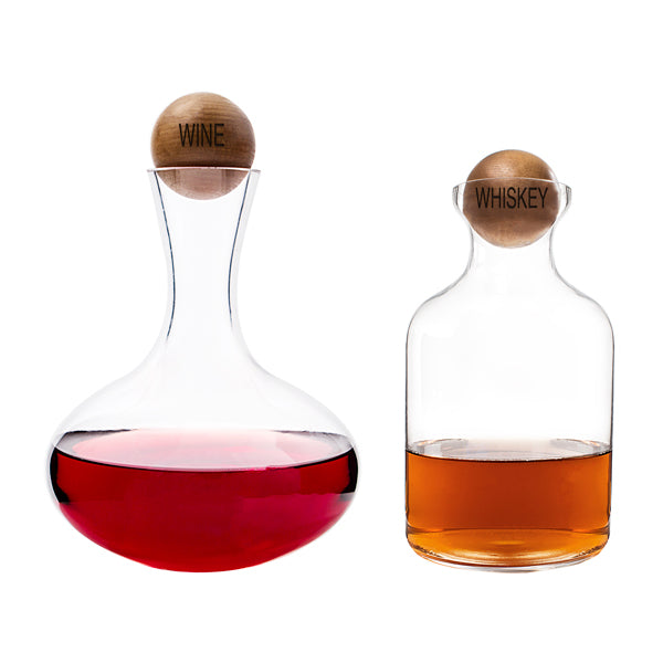 Wine & Whiskey Decanter Set - Spectacular Wedding Favor