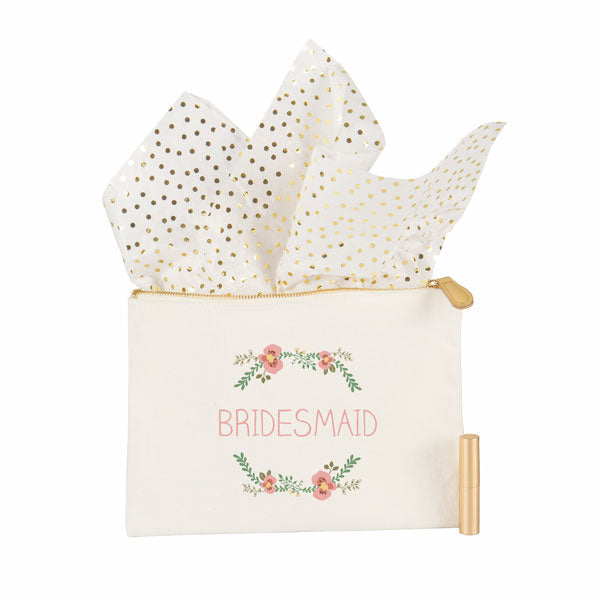 Maid of Honor Floral Canvas Clutch - Spectacular Wedding Favor