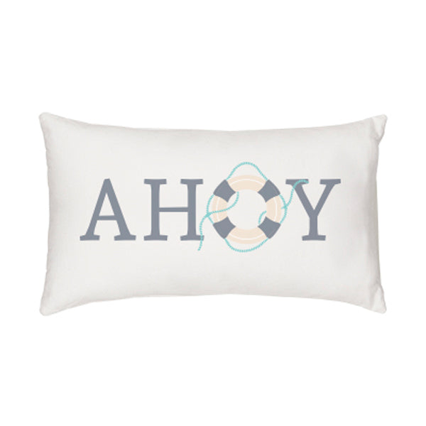 Ahoy Lumbar Throw Pillow - Spectacular Wedding Favor