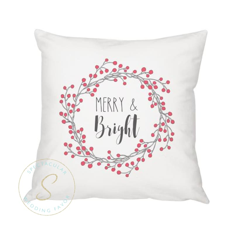 16 Merry And Bright Throw Pillow