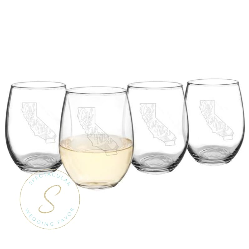 21 Oz. My State Stemless Wine Glasses