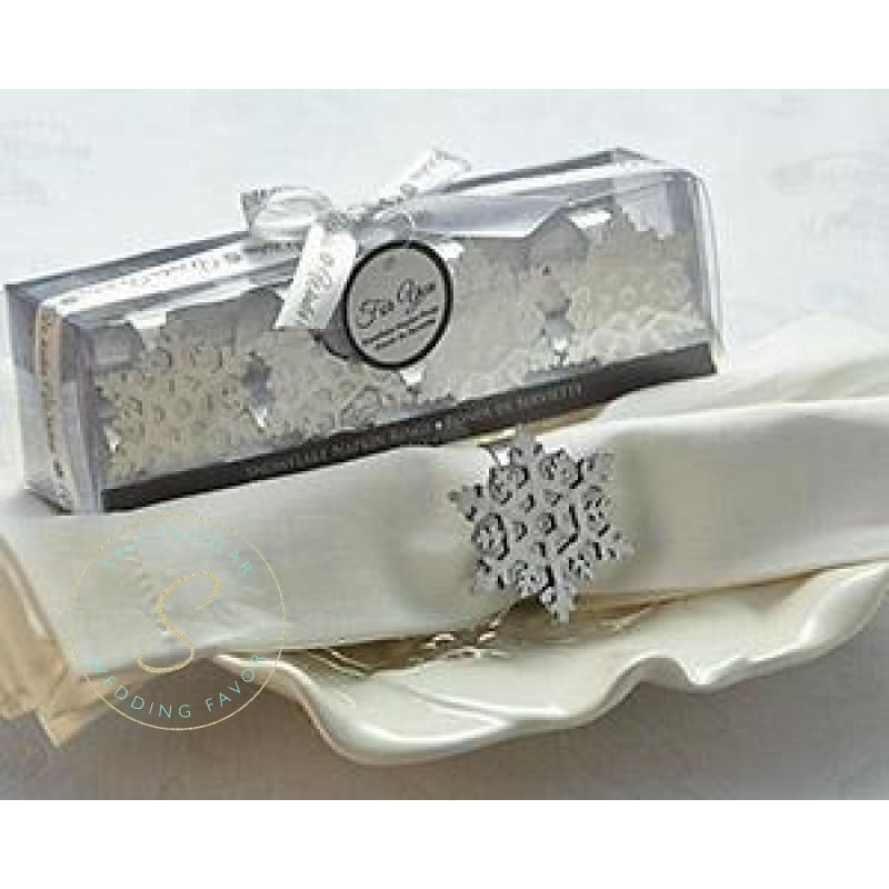 24 Boxes Of Winter Wishes Snowflake Napkin Rings (Set Of 4 In Each Box)