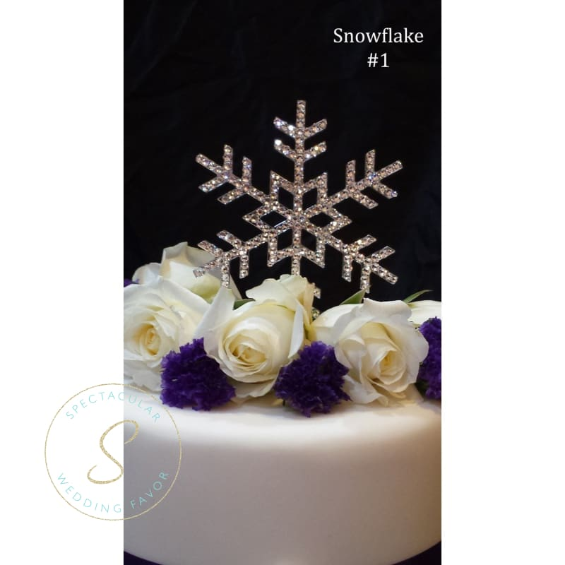 5 Inch Snowflake Wedding Cake Topper With Swarovski Crystals Rhinestone Winter Wedding Winter Themed Event Frozen