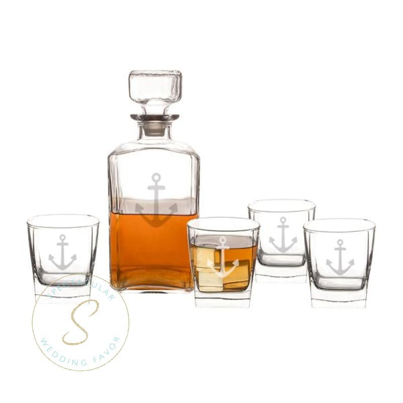 5 Pc. Anchor Decanter Set