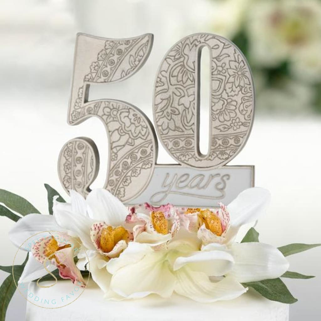 50Th Anniversary Cake Pick Topper