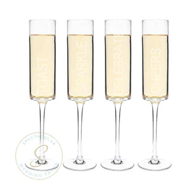 8 Oz. Celebrate! Contemporary Champagne Flutes (Set Of 4)