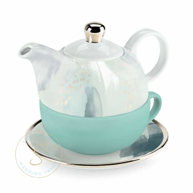 Addison Mint Abstract Tea For One Set