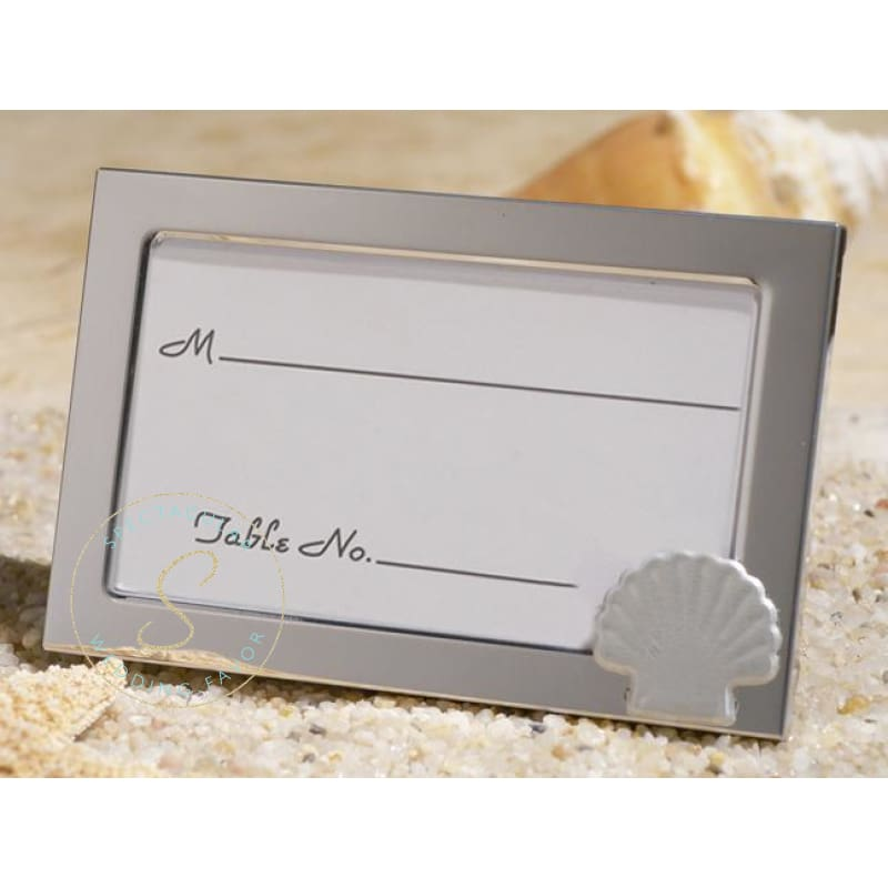 Beach Theme Metal Picture Frame Favors Place Card