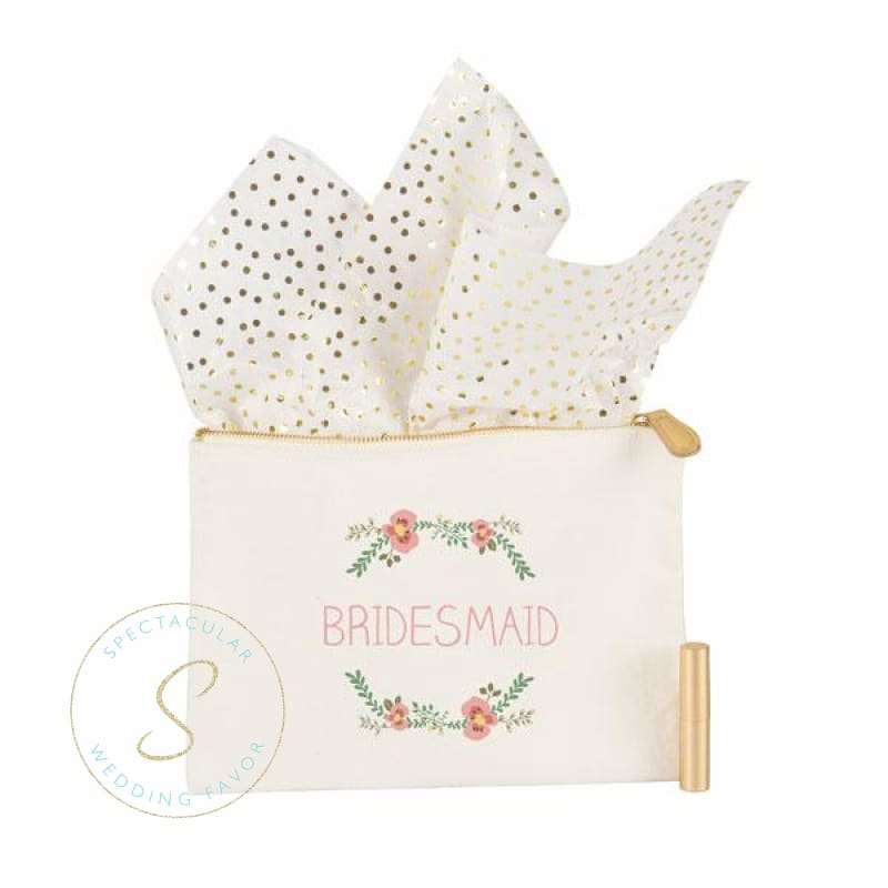 Bride Floral Canvas Clutch