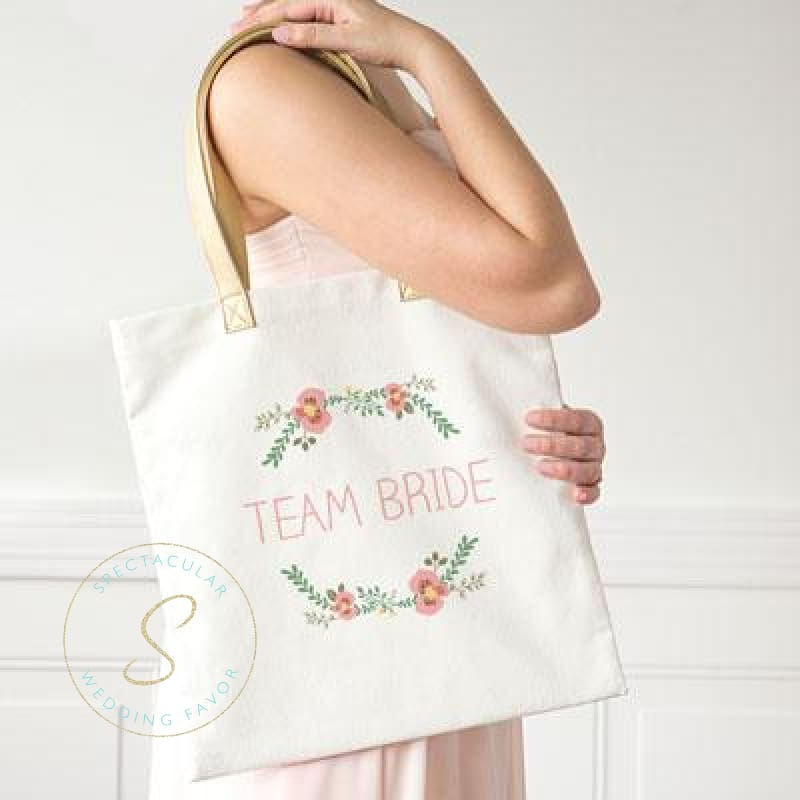 Bride Floral Canvas Tote