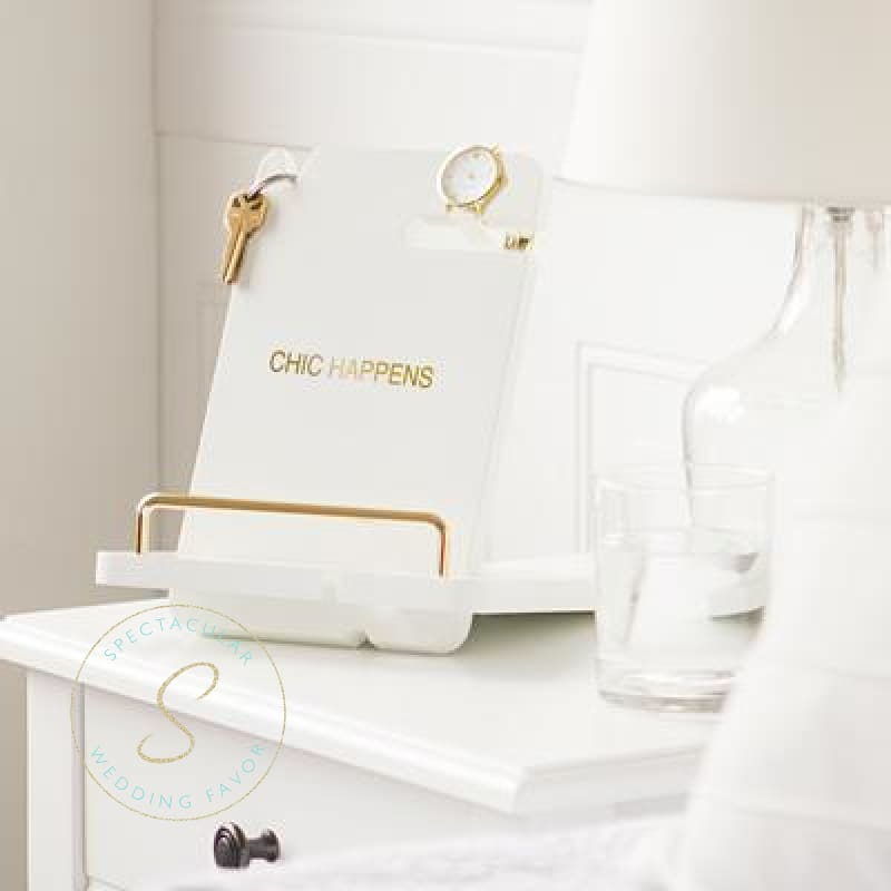 Chic Happens White Lacquer Docking Station